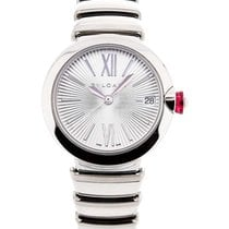 Bulgari LU33C6SSD Lucea 33mm in Steel - on Steel Bracelet with...