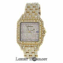 Cartier Ladies Midsize Panthere 18K Yellow Gold Diamonds 27mm...