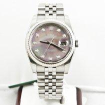 Rolex Mens Datejust Watch 116234 Rolex Dark MOP Diamond Dial