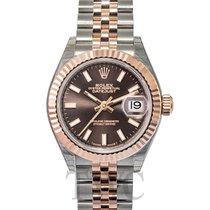ロレックス (Rolex) Lady Datejust 28 Chocolate 18k Everose gold/Stee...