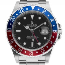 Rolex GMT Master II rot blau Pepsi Stahl Automatik Armband...