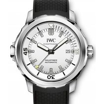 IWC IW329003 Aquatimer 42mm in Steel - on Black Rubber Strap...
