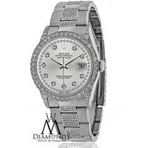 Rolex Diamond Rolex Watch- Datejust 16200 36mm -diamond Silver...
