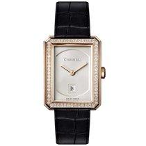 Chanel Ladies H4469 BOY·FRIEND Quartz Beige-Gold Diamonds Watch