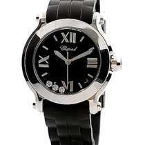 Chopard 278475-3014 Happy Sport Round - Steel on Strap with...