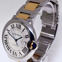 Cartier Ballon Bleu 42mm 18k Gold & Steel Mens Watch W69009Z3