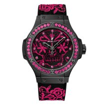 Hublot Big Bang Broderie Sugar Skull Fluo Hot Pink 41mm Ref...