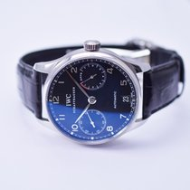 IWC Portugieser Stainless Steel Watch on Leather Strap