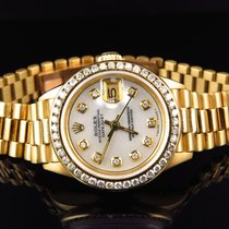 Rolex Pre-Owned Ladies 27 MM Rolex President Datejust 18k...