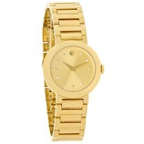 Movado Concerto Ladies Diamond Gold Tone Swiss Quartz Watch...