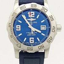 Breitling Colt 44 Blue Dial Quartz A74387 On Blue Rubber And...