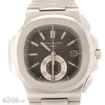Patek Philippe Nautilus 5980/1A-014 Chrono Black Dial Steel...