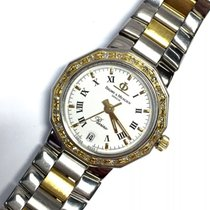 Baume & Mercier Riviera 18k Yellow Gold & Steel Ladies...