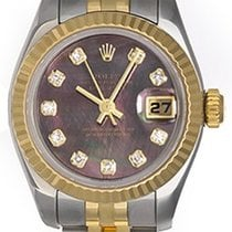 Rolex Ladies Black Mother of Pearl 2-tone Datejust Watch 179173