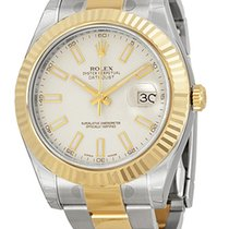 Rolex Datejust II Ivory Index Dial 18k Yellow Gold Bezel 11633