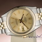 Rolex DATEJUST JUBILEE 18K GOLD STEEL FULL SET BOX & PAPERS