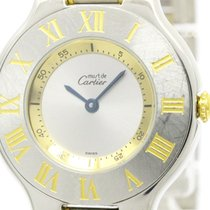 カルティエ (Cartier) Polished Cartier Must 21 Gold Plated Steel...
