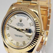 Rolex Day-Date II 18k Yellow Gold Mens Concentric Dial Watch...