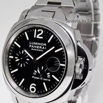 Panerai Luminor PAM 90 Power Reserve Steel Automatic Watch On...