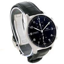 IWC Portuguese Chrono Automatic Black Dial Mens Watch Iw371447