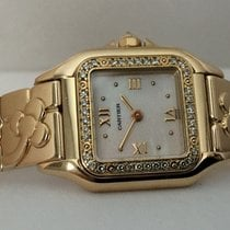 Καρτιέρ (Cartier) Panthere Lady Yellow Gold Pearl Dial...