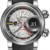 Graham New Men Swordfish GMT Grillo Alarm 2SWGS.S08A Automatic