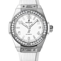Hublot Big Bang 39mm One Click Steel White Diamonds Automatic...