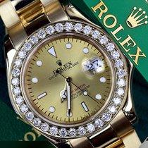 勞力士 (Rolex) Diamond Rolex Yacht-master 16628 18k Yellow Gold...