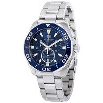 TAG Heuer Men's CAY111B.BA0927 Aquaracer Blue Dial...