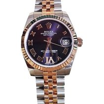 Rolex Unworn 178271 Mid Size Steel and Rose Gold Datejust -...