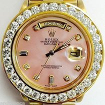 Rolex President 18038 18k Gold Mother Of Pearl Pink Diamond...