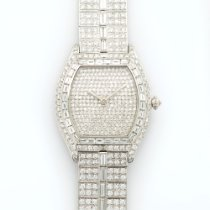 Cartier Platinum Tortue Baguette Diamond Bracelet Watch