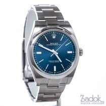 Rolex Oyster Perpetual 39mm Stainless Steel Blue Dial Men'...