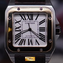 Cartier Santos 100 Xl Half-gold Men's Automatic (near Mint)