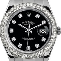 Rolex 41mm Datejust II Stainless Steel 116334 Custom Black...