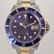Rolex Submariner Date Blue Gold Steel  16613