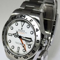 Rolex Explorer II Stainless Steel White Dial Mens 42mm Watch...