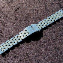 Breitling 765d 15mm B Class D71365 Band Pilot Stahl Gold  Np...