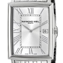 Raymond Weil Tradition Steel Mens Watch Silver Dial Calendar...