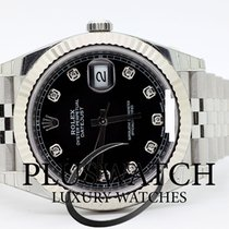 Rolex Datejust Oyster Perpetual 41mm Jubilee Black Dial Diamond
