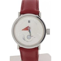 Alain Silberstein Moon Phase Stainless Steel Watch