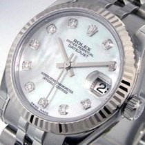 Rolex 178274 Datejust 31 Mm Mid Size Steel White Mother Of...