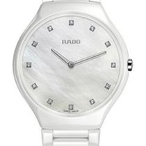 Rado Ladies True Thinline White High-tech Ceramic Watch
