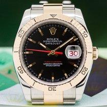 Rolex 116261 116261 Datejust Turn-O-Graph Black Dial SS / RG...