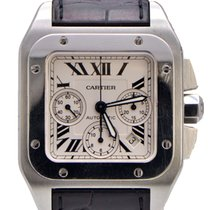 Cartier Santos 100 XL Chronograph Stainless Steel