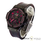 Hublot Big Bang 41mm Fluo Pink Black Diamond Dial Limited Edition