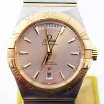 Omega Mens CONSTELLATION Day-Date 38 mm S/Steel & 18k Watch