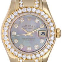 롤렉스 (Rolex) Ladies Masterpiece/Pearlmaster Gold Diamond Watch...