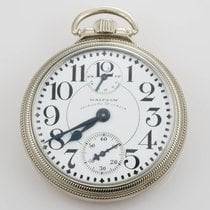 Waltham Vanguard Pocket Watch Open Face 16 Size 23 Jewel