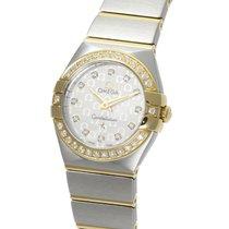 オメガ (Omega) Constellation Yellow Gold Diamond Bezel Quartz...